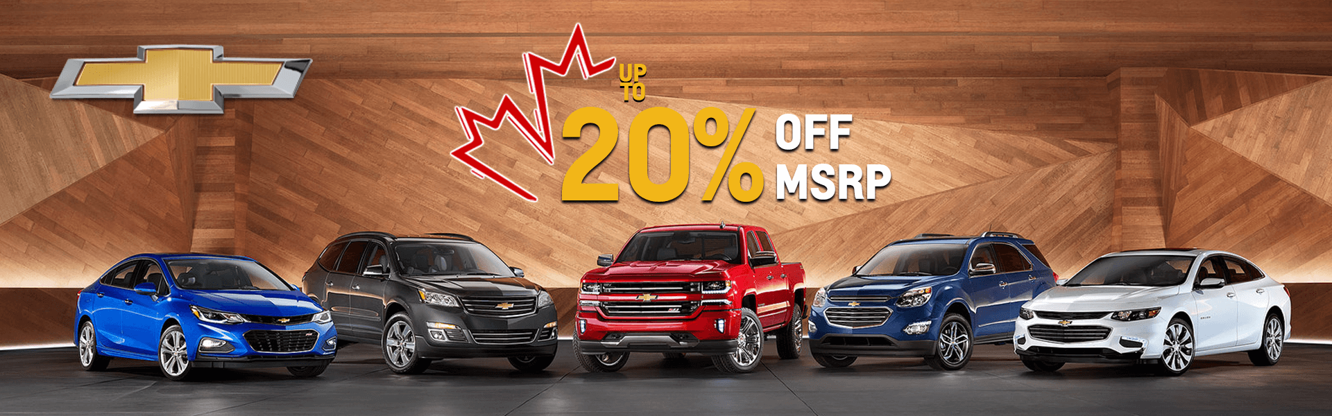 Chevrolet 20% OFF MSRP