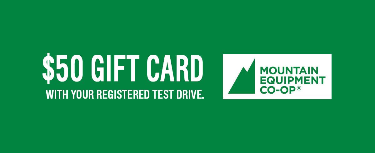 $50 MEC Gift Card Test Drive