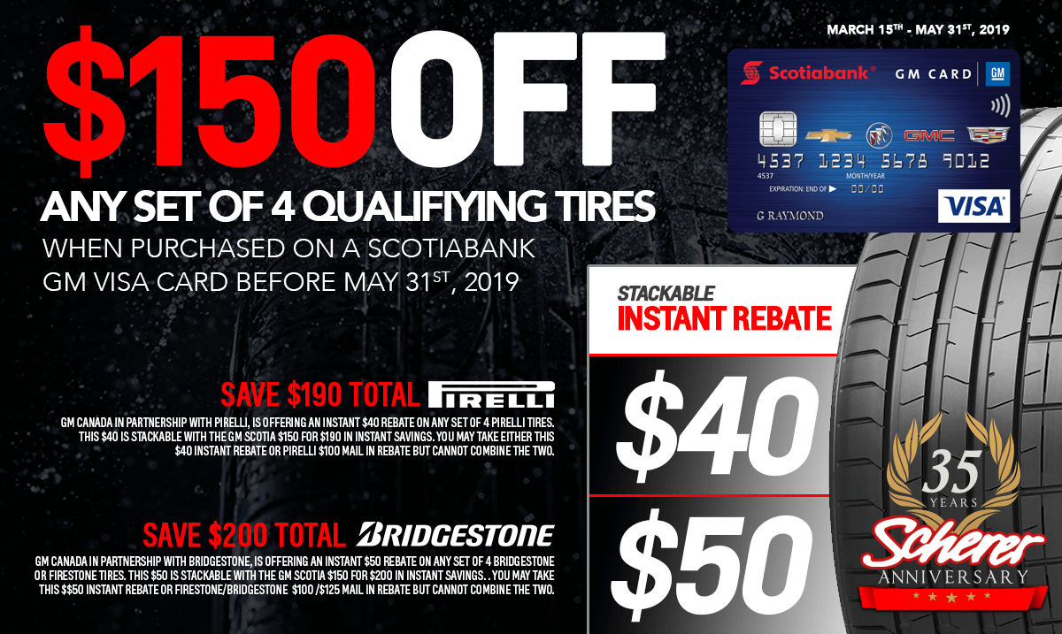 $150 off tire promo - Special Page