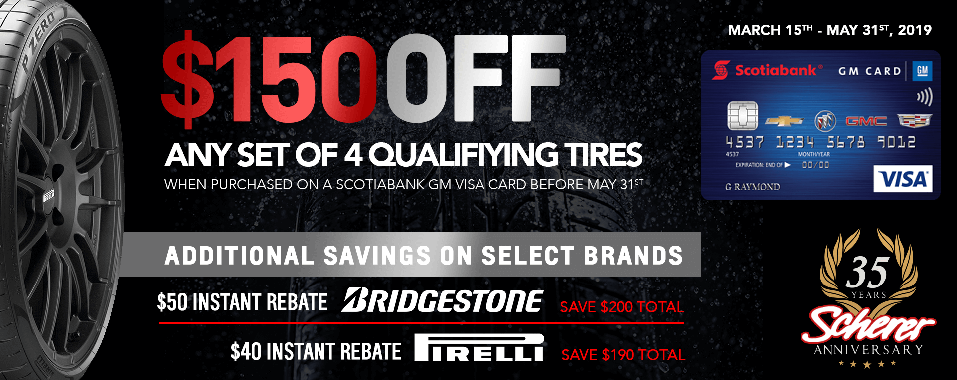 $150 Off set of 4 Tires
