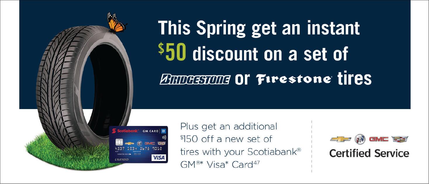 $50 Bridgestone Discount