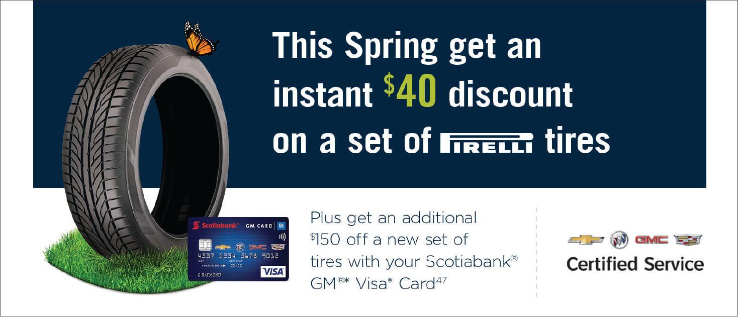 $40 Pirelli Discount