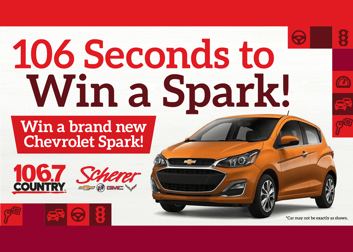 106 seconds to win a spark -specials page