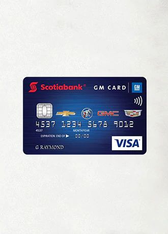 THE SCOTIABANK GM VISA CARD