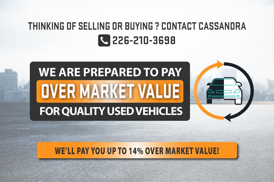 Sell us your quality used vehicle