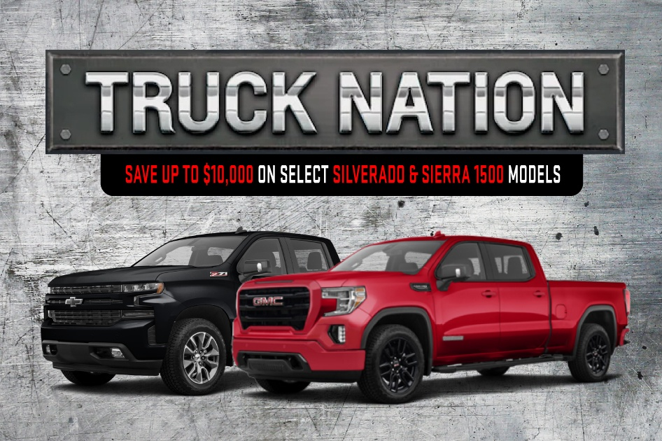 Save up to $10,000 on select new trucks