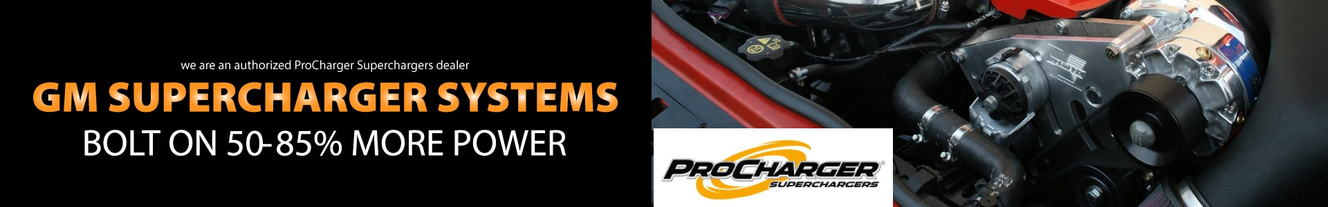 We Now Sell ProCharger Superchargers
